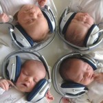 Babies with Headphones