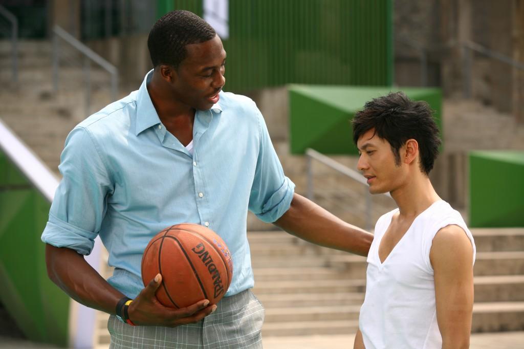 Huang Xiao Ming and Dwight Howard
