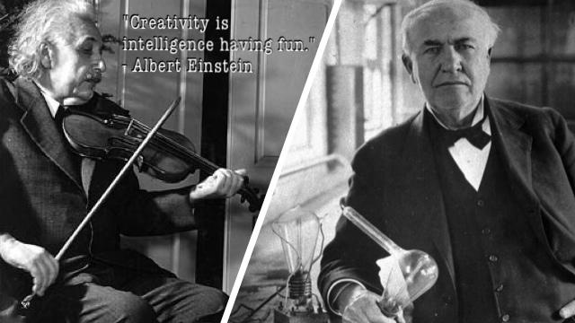 Einstein and Edison